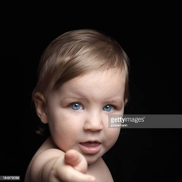 Baby points a finger at you