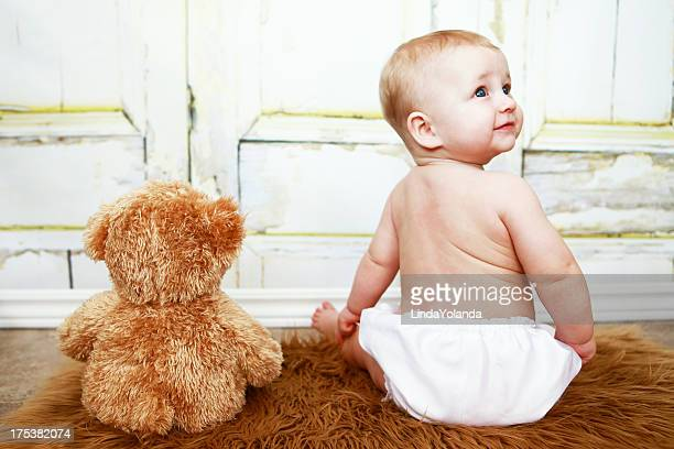 Baby Sitting With Teddy Bear