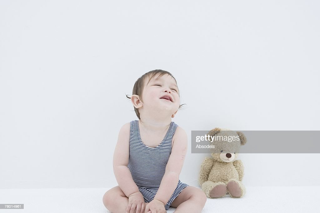 A baby smiling : Stock Photo