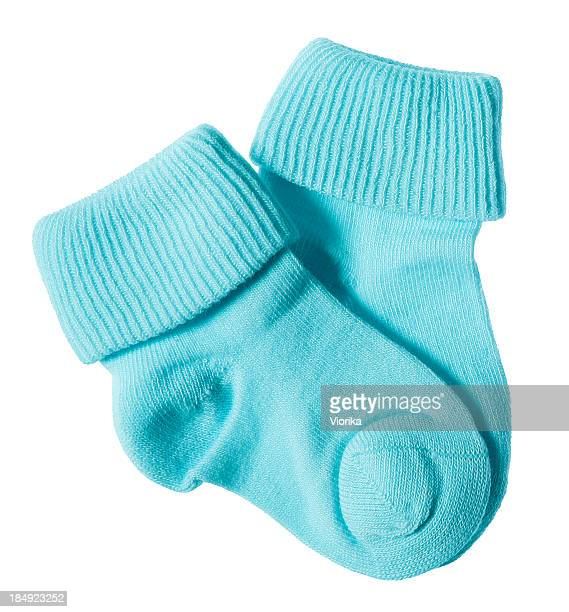 Baby socks on white