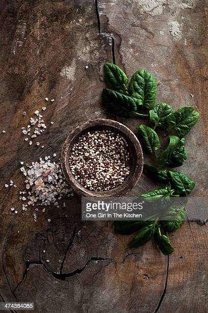 Baby Spinach and Salt