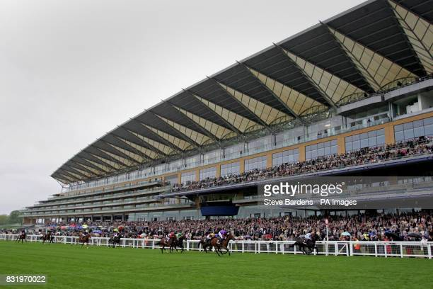 Baby Strange ridden by jocket Graham Gibbons wins the Mcgee Group Conditions Stakes in front of the new grandstand at Ascot racecourse