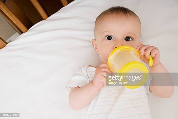 Baby with bottle