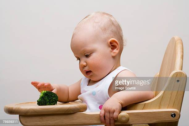 Baby with broccoli