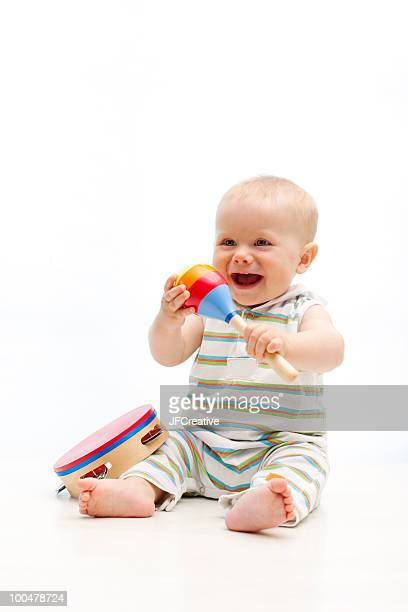 baby with instruments