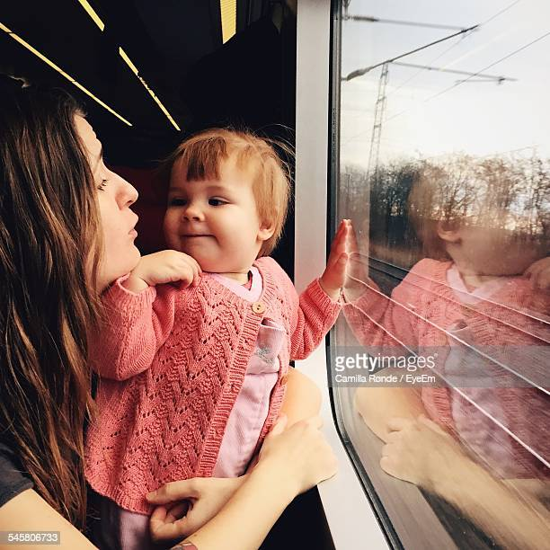 Baby With Mother In Train