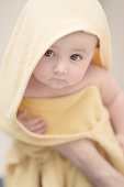 Baby wrapped in Towel after Bath