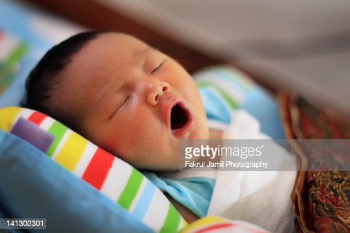 Baby Yawning : Stock Photo