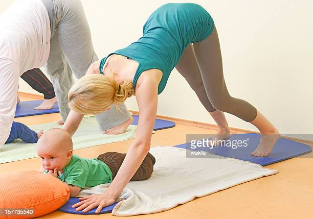 Baby Yogagroup aerobic