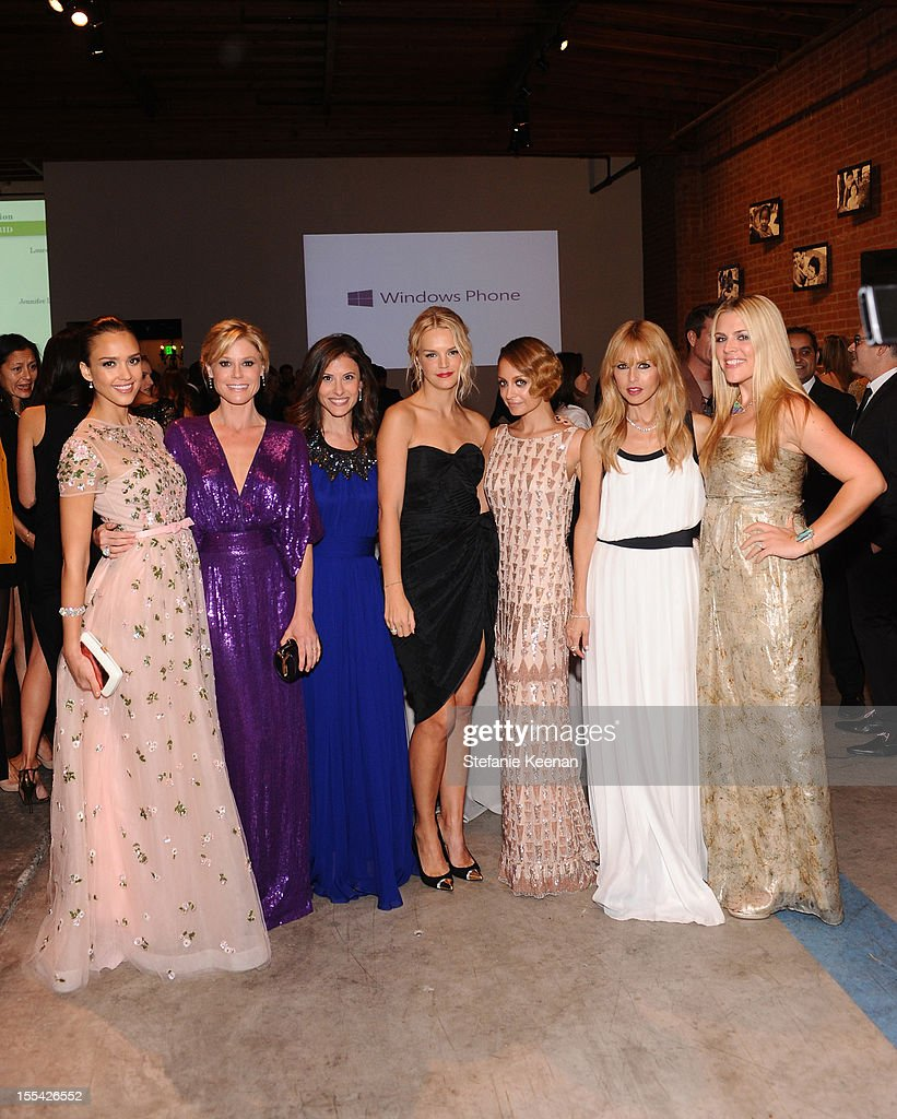 Baby2Baby board member <a gi-track='captionPersonalityLinkClicked' href=/galleries/search?phrase=Jessica+Alba&family=editorial&specificpeople=201811 ng-click='$event.stopPropagation()'>Jessica Alba</a>, actress <a gi-track='captionPersonalityLinkClicked' href=/galleries/search?phrase=Julie+Bowen&family=editorial&specificpeople=244057 ng-click='$event.stopPropagation()'>Julie Bowen</a>, Baby2Baby Co-Presidents Norah Weinstein and Kelly Sawyer Patricof, Baby2Baby board member <a gi-track='captionPersonalityLinkClicked' href=/galleries/search?phrase=Nicole+Richie&family=editorial&specificpeople=201646 ng-click='$event.stopPropagation()'>Nicole Richie</a>, celebrity stylist <a gi-track='captionPersonalityLinkClicked' href=/galleries/search?phrase=Rachel+Zoe+-+Stylist&family=editorial&specificpeople=546501 ng-click='$event.stopPropagation()'>Rachel Zoe</a>, and actress <a gi-track='captionPersonalityLinkClicked' href=/galleries/search?phrase=Busy+Philipps&family=editorial&specificpeople=216133 ng-click='$event.stopPropagation()'>Busy Philipps</a> attend the First Annual Baby2Baby Gala event presented by Harry Winston honoring <a gi-track='captionPersonalityLinkClicked' href=/galleries/search?phrase=Jessica+Alba&family=editorial&specificpeople=201811 ng-click='$event.stopPropagation()'>Jessica Alba</a> at Book Bindery on November 3, 2012 in Culver City, California.