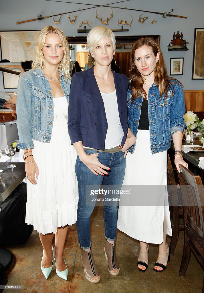 Baby2Baby Co-Chair Kelly Sawyer Patricof, Paper Denim & Cloth CEO Alex Gilbert Gaines and Domaine Co-Founder Katherine Power attend the Paper Denim & Cloth and Baby2Baby Luncheon at Son Of A Gun on June 11, 2013 in Los Angeles, California.
