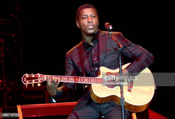 Babyface performs at ORACLE Arena on August 10 2015 in Oakland California