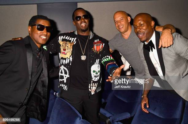 Babyface Sean 'Diddy' Combs Vin Diesel and Tyrese Gibson attend the Los Angeles Premiere of Apple Music's CAN'T STOP WON'T STOP A BAD BOY STORY at...
