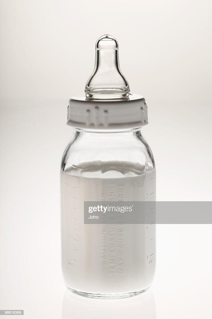 Baby's bottle with milk