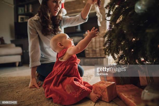 Les premiers pas de bébé de Noël
