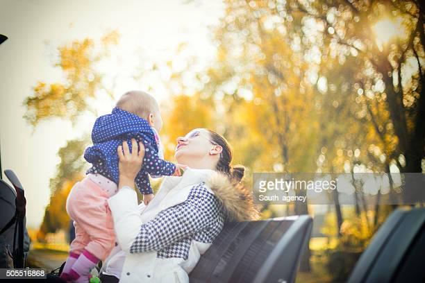 Babysitter loving her job