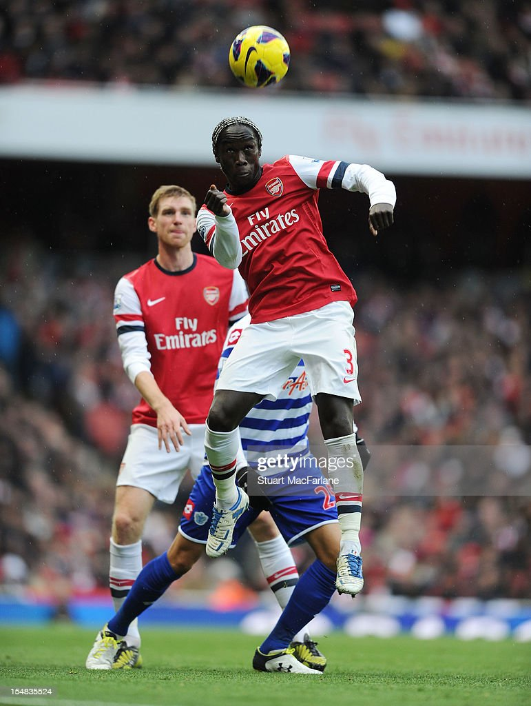 <a gi-track='captionPersonalityLinkClicked' href=/galleries/search?phrase=Bacary+Sagna&family=editorial&specificpeople=745680 ng-click='$event.stopPropagation()'>Bacary Sagna</a> of Arsenal competes during the Barclays Premier League match between Arsenal and Queens Park Rangers, at Emirates Stadium on October 27, 2012 in London, England.