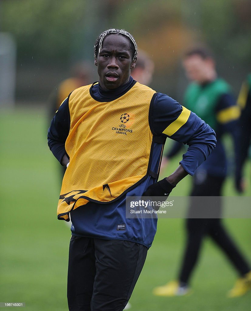 Bacary Sagna of Arsenal during a training session at London Colney on November 20, 2012 in St Albans, England.