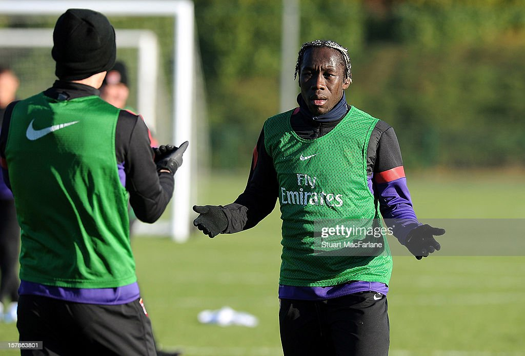 Bacary Sagna of Arsenal during a training session at London Colney on December 07, 2012 in St Albans, England.