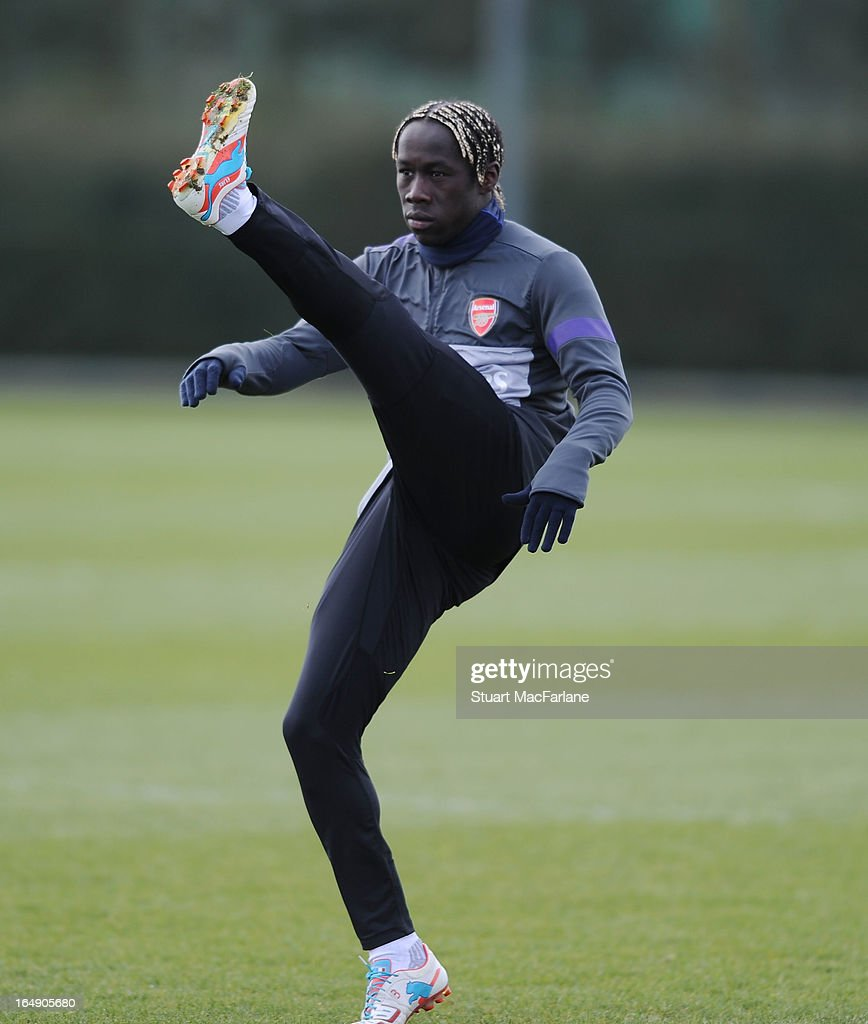 Bacary Sagna of Arsenal during a training session at London Colney on March 29, 2013 in St Albans, England.