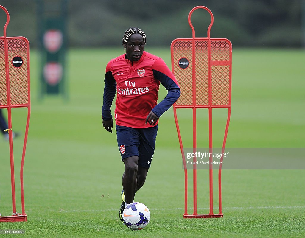 Bacary Sagna of Arsenal during a training session at London Colney on September 21, 2013 in St Albans, England.