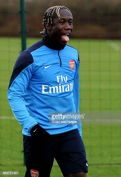 Bacary Sagna of Arsenal during a training session at London Colney on January 17 2014 in St Albans England