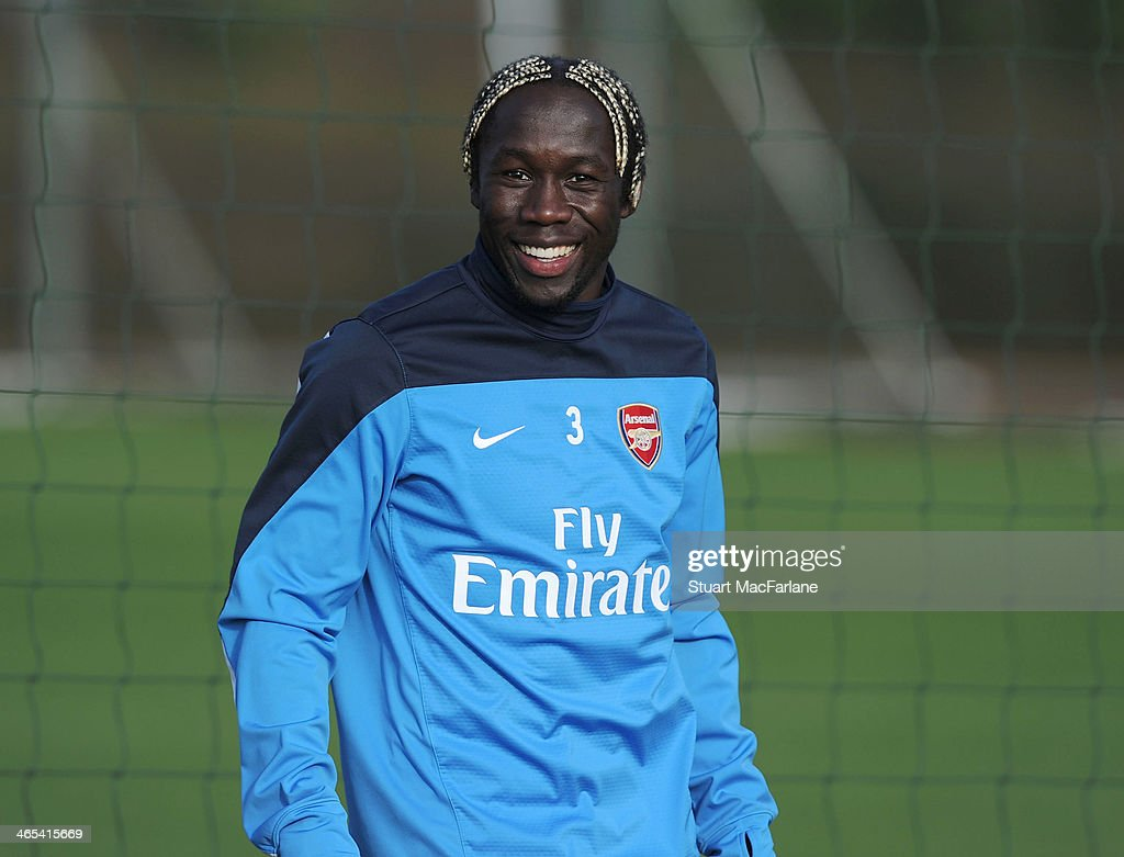 Bacary Sagna of Arsenal during a training session at London Colney on January 27, 2014 in St Albans, England.