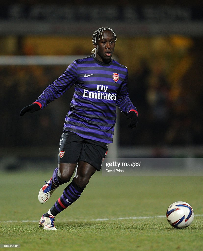 <a gi-track='captionPersonalityLinkClicked' href=/galleries/search?phrase=Bacary+Sagna&family=editorial&specificpeople=745680 ng-click='$event.stopPropagation()'>Bacary Sagna</a> of Arsenal during the Capital One Cup match between Arsenal and Bradford City at Coral Windows Stadium, Valley Parade on December 11, 2012 in Bradford, England.