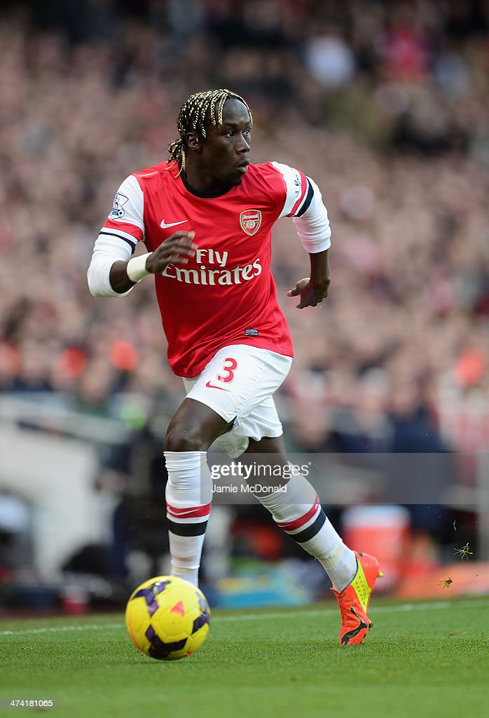 Bacary Sagna of Arsenal in action during the Barclays Premier League match between Arsenal and Sunderland at Emirates Stadium on February 22, 2014 in London, England.