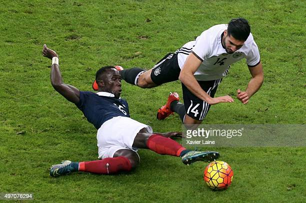 Bacary Sagna of France and Emre Can of Germany in action during the International Friendly games between France and Germany at Stade de France on...