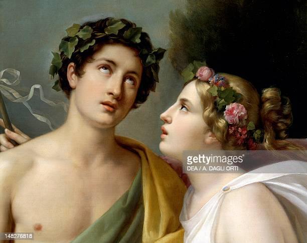 Bacchus and Ariadne by Nicola Carta Detail Rome Galleria Nazionale D'Arte Moderna