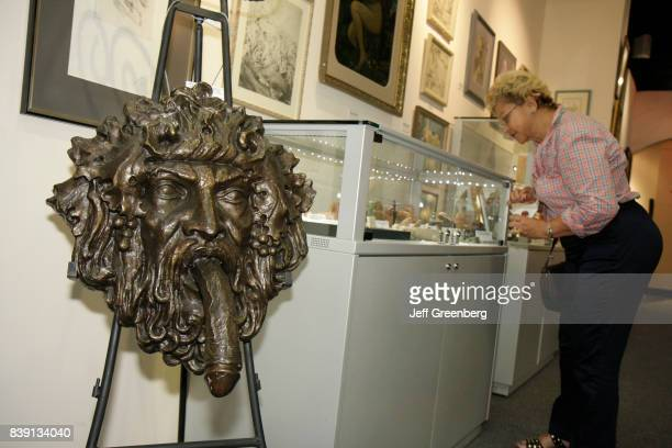 A Bacchus head sculpture at the World Erotic Art Museum