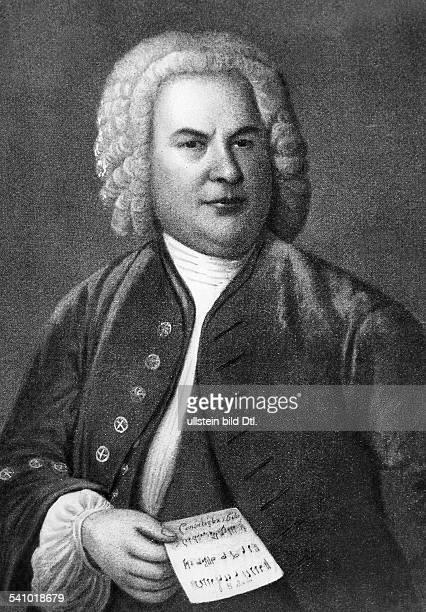 Bach Johann Sebastian *2103168528071750Komponist D Portrait mit Raetselkanon Oelgemaelde von Elias Gottlob Haussmann 1746