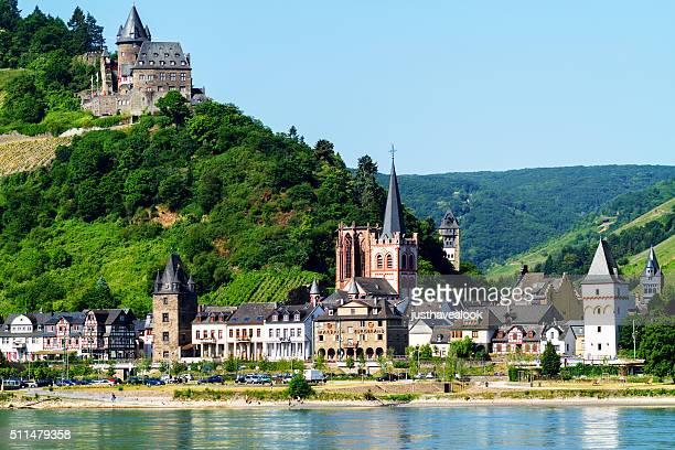Bacharach and castle Burg Stahleck