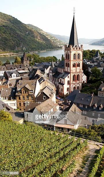 Bacharach on Rhine River in Germany
