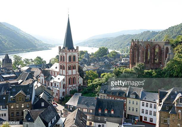 Bacharach with the church St Peter and Werner chapel