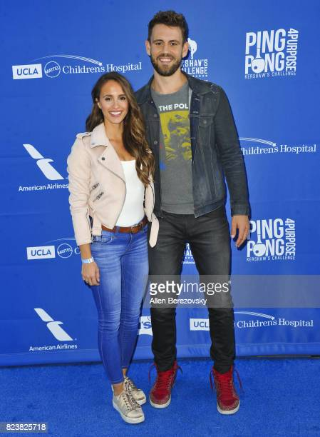 'Bachelor' alum Nick Viall and Vanessa Grimaldi attend the 5th Annual Ping Pong 4 Purpose on July 27 2017 in Los Angeles California