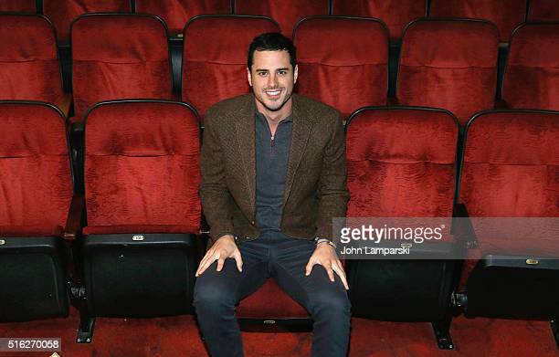 'Bachelor' Ben Higgins visits 'The Lion King' on Broadway at Minskoff Theatre on March 17 2016 in New York City