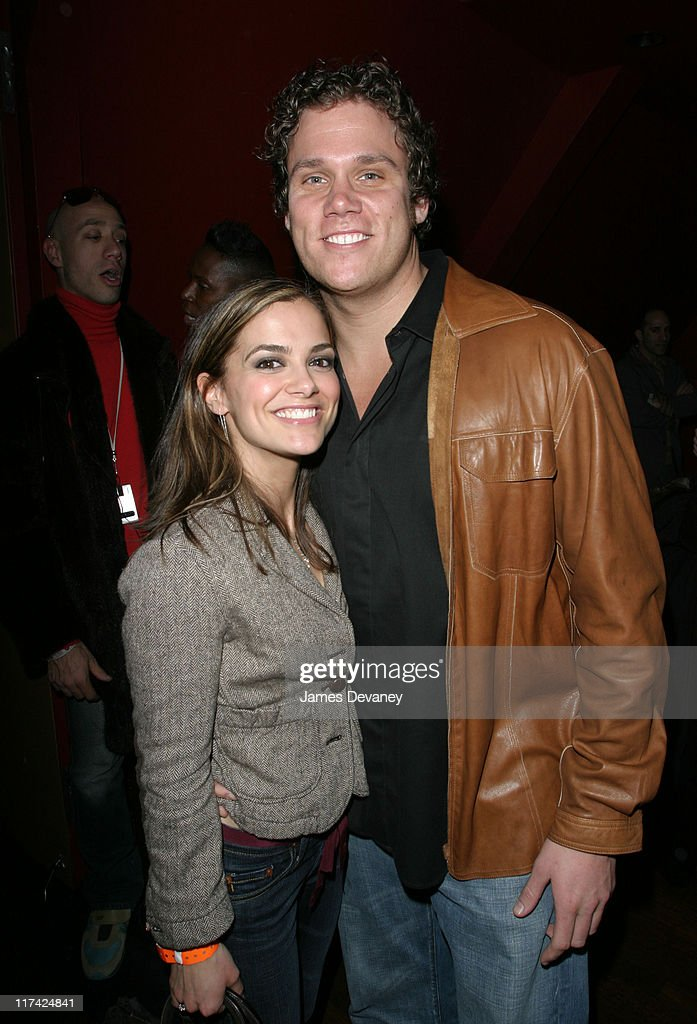 Bachelor Bob Guiney and Rebecca Budig during 'Queer Eye for the Straight Guy' Record Release Party Inside at Avalon in New York City New York United...