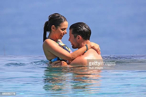 Bachelor Sam Wood and Snezana Markoski are seen on October 26 2015 in Bali Indonesia
