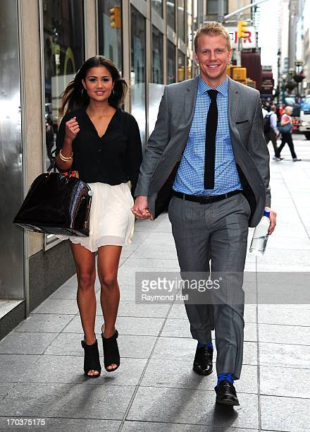 Bachelor Sean Lowe and Catherine Guidici are seen Walking in Midtown Manhattan on June 12 2013 in New York City