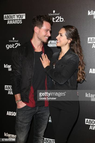 Bachelor Sebastian Pannek and his girlfriend CleaLacy Juhn during the ABOUT YOU AWARDS at the Mehr Theater in Hamburg on May 4 2017 in Hamburg Germany