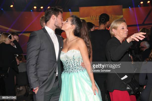 Bachelor Sebastian Pannek and his girlfriend CleaLacy Juhn during the 'Tribute To Bambi' gala at Station on October 5 2017 in Berlin Germany