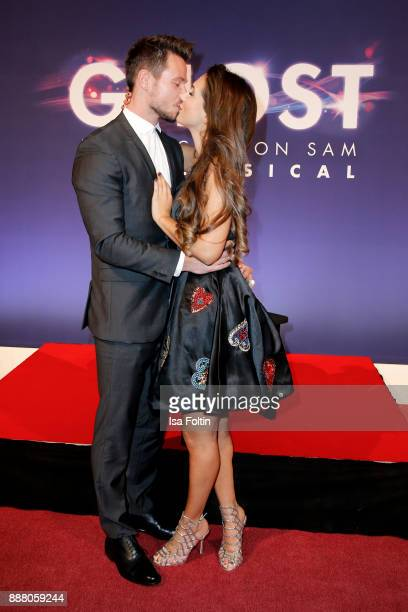 Bachelor Sebastian Pannek and his girlfriend CleaLacy Juhn during the premiere of 'Ghost Das Musical' at Stage Theater on December 7 2017 in Berlin...