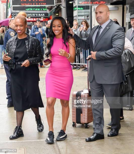 Bachelorette Rachel Lindsay is seen outside 'Good Morning America'on May 22 2017 in New York City