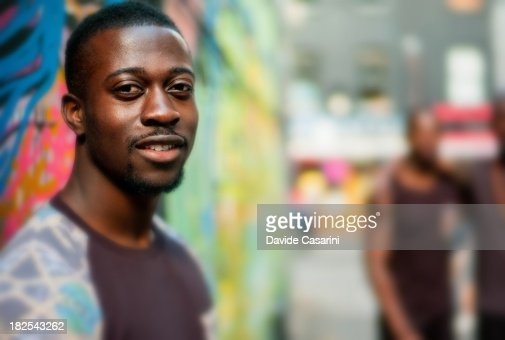 Back guy with blurred backgrounds