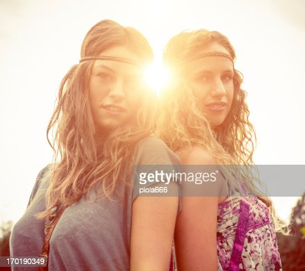 Back in the 70s: two hippie women