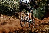 back man rider downhill mountain biking