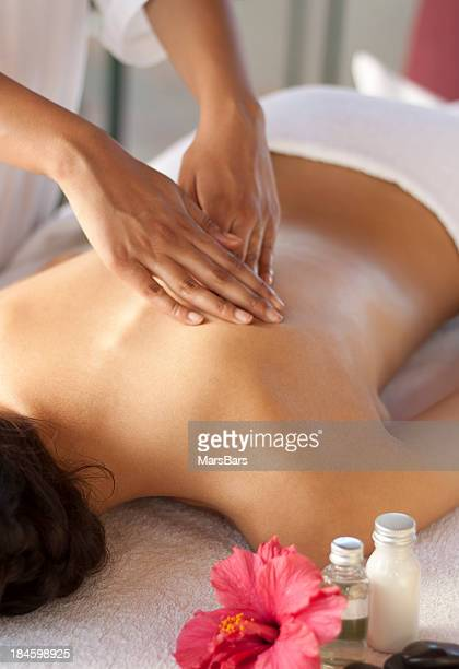 massage du dos au spa