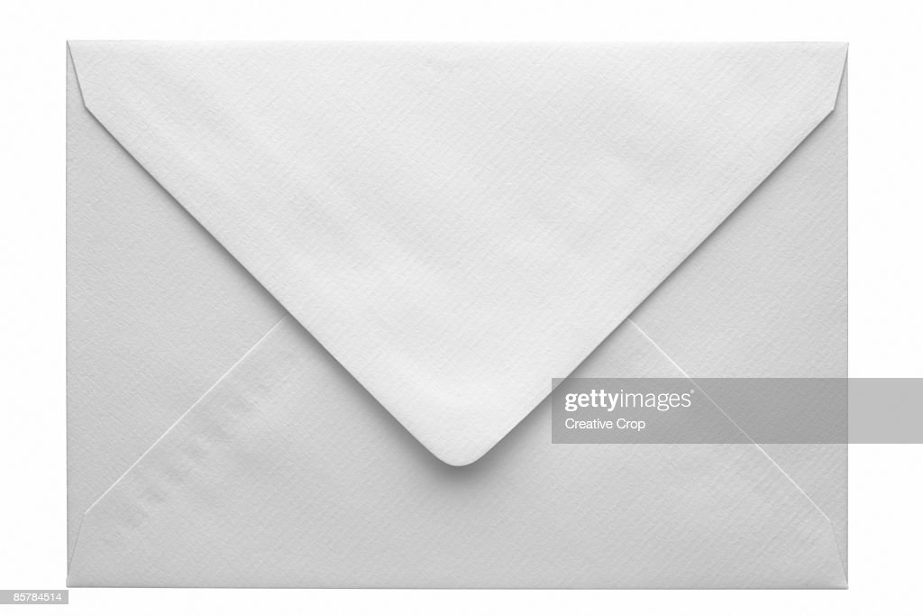 Back of a white envelope : Stock Photo